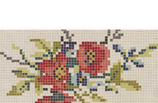Crocheted Mosaic Carpets - This Pixel Flower Rug from CB2 is a Fresh Take on Tradition