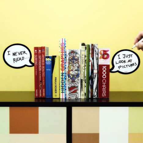 Word Balloon Bookends - Give Your Books a Voice with the Chat Book Holder