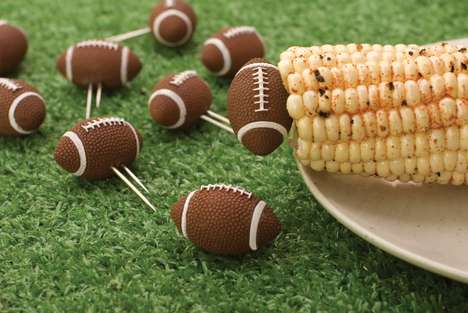 Football Corn Holders - This Sporty Corn Holder Design is Perfect for Sporting Events