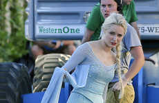 Real-Life Disney Princesses - First Look at Frozen's Elsa on 'Once Upon a Time' Set