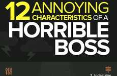 Horrible Bosses Infographics - This Bad Boss Traits Infographic Shows the 12 Worst Characteristics