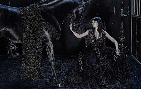 Edgy Equestrian Fashions - The Alexander McQueen Fall/Winter 2014 Line