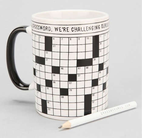 Puzzling Coffee Cups - The Crossword Puzzle Mug is For People Who Enjoy Word Games and Hot Beverages