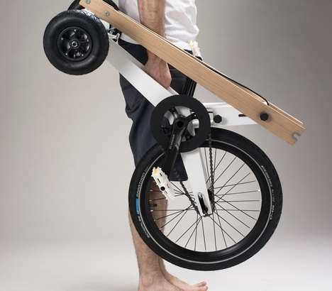Contemporary Collapsible Bikes - Kolelinia's Foldable Halfbike is Compact and Practical for Riders