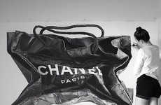 Photorealistic Shopping Bag Illustrations - CJ Hendry's Striking Art Features Chanel and Hermes Bags