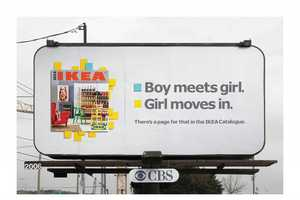 IKEA's Billboards Shows Scenarios for Leafing Through Its Catalog