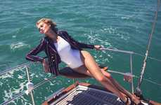 Chic Nautical Editorials - Net-a-Porter's The Edit Photoshoot Stars a Summery Toni Garrn