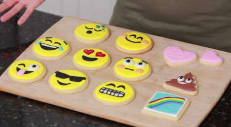 Expressive Emoji Cookies - These Emoji Happy Face Cookies Will Make Stomachs Equally as Elated