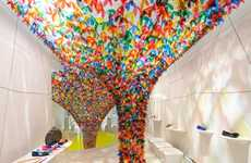 Kaleidosopic Sandal Shop Art - The We Are Flowers Installation by SOFTlab is Created for Melissa
