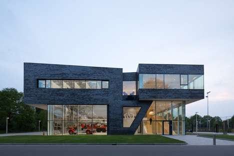 Contemporary Fire Stations - Bekkering Adams Architecte Offers the Fire Brigade a Modern Space