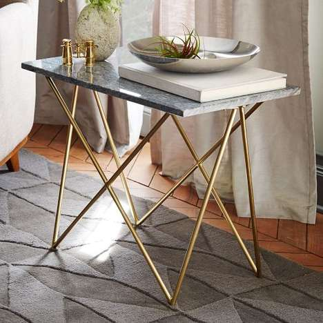 Minimalist Art Deco Furnishings - The Waldorf Side Table from West Elm Embodies Understated Elegance