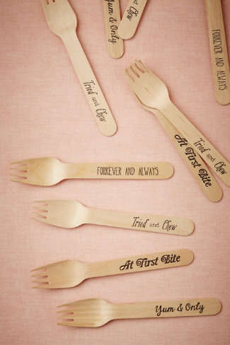 Cheeky Bridal Cutlery - These Love Pun Forks from BHLDN Celebrate Companionship