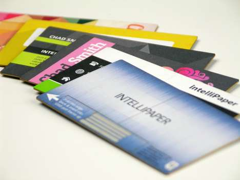 Tech-Embedded Business Cards - These Paper Business Cards Feature an Embedded USB Drive