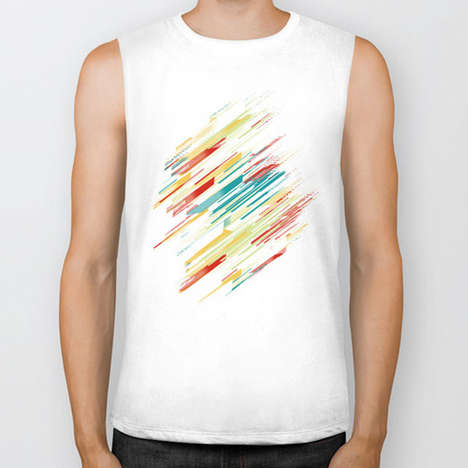Graphic Bike Tanks - The Society6 Biker Tanks Features Original Artist Imagery