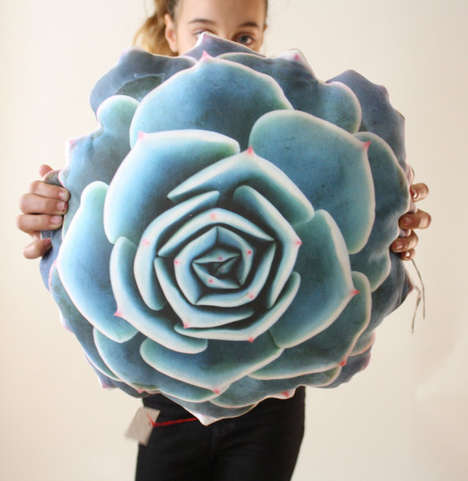 Photo-Printed Botanical Cushions - Etsy's Plantillo Shop Creates Nature-Themed Pillow Designs
