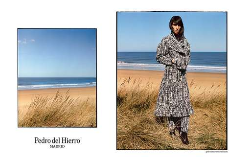Seaside Fashion Ads - The Pedro del Hierro Fall 2014 Campaign Stars Jamie Bocher