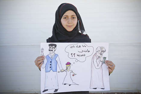 Child Marriage Caricatures - Syrian Girls Illustrate Forced Marriages Captured by Save the Children