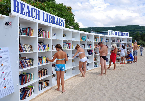 Beach Library Installations