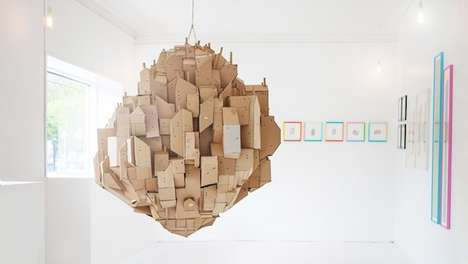 Floating Corrugated Cities - These Cardboard Urban Cities by Nina Lindgren are Breathtaking