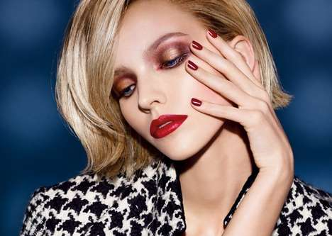 Femme Fatale Makeup Ads - The Dior Cosmetics Fall 2014 Campaign Stars Sasha Luss