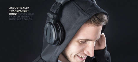 Speaker Material Sweatshirts - This High Tech Hoodie From BetaBrand is for Sound Professionals