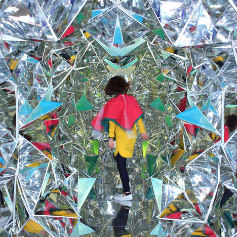 Kaleidoscopic Mirror Tunnels - Wink Space by Masakazu Shirane and Saya Miyazaki is a Mind Trip