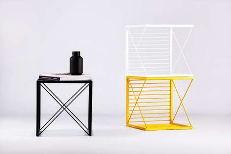 Stackable Versatile Furniture - Stripe by Natali Ristovska & Miki Stefanoski is Modern and Practical