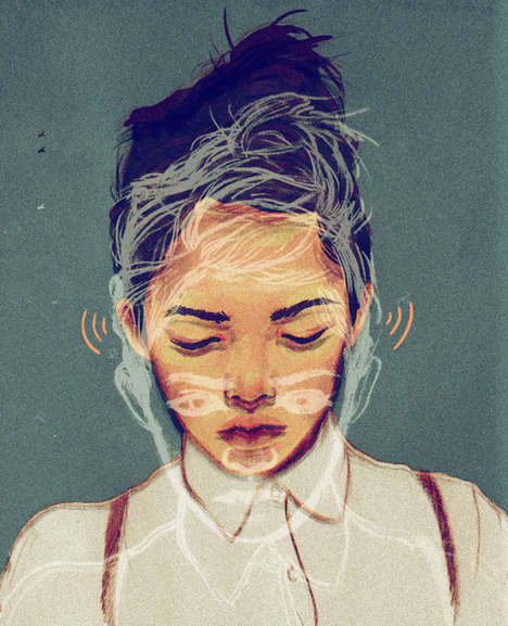 Chalky Girlhood Portraits - Sarah Gonzales Feminine Portraits Use Color to Express Emotions