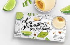 Typographic Dessert Cups - Packaging for Enough of a (Very) Good Thing is Refreshingly Light