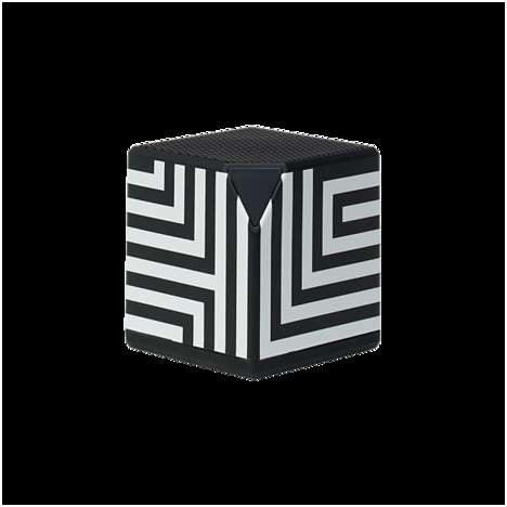 Portable Op Art Tech - The Blucube Bluetooth Speaker from Kate Spade Saturday is Style-Conscious