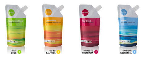 Portable Vino Pouches - The Resealable Nuvino Wine Pouch is Travel Friendly and Have Single Portions