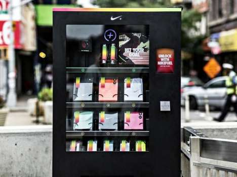 Bartering Fitness Machines - The Nike FuelBox Dispenses Gear in Exchange for Nike FuelBand Points