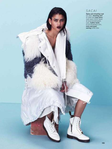 Futuristic Wintertime Editorials - The Glamour UK Your New Season Edit Photoshoot is Layered