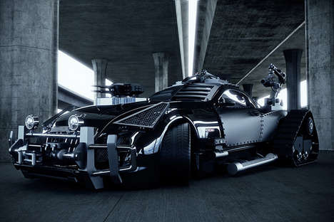 Luxury Apocalypse Autos - Khaled Alkayed Turned a Speedy Maybach Exelero into a Zombie Car