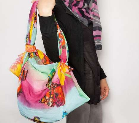 DIY Scarf Handbags - This Tutorial Upcycles an Old Shawl into a Stylish Purse