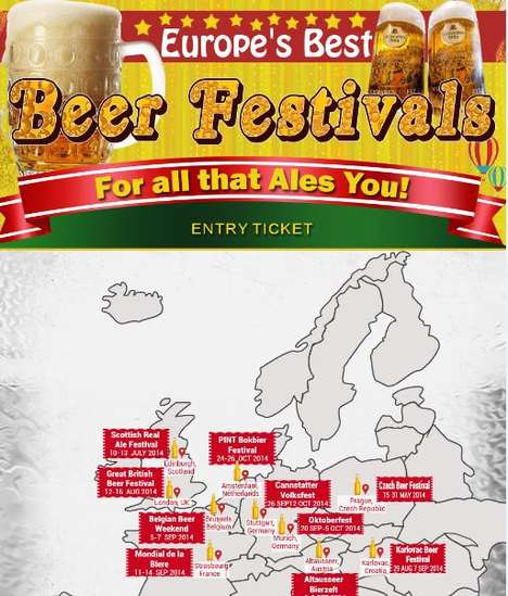 Beer Festival Infographics - This Infographic Includes Europe