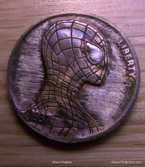Comic Con Coins - Shaun Hughes Creates Pop Culture Carvings on Metal Tokens