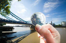 Illusory Coin Photography - The Royal Mint Unveils Limited Edition Coins with a Playful Photo Series