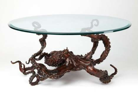 Sea Creature Tables - Artist Kirk McGuire Creates Sculptural Furniture
