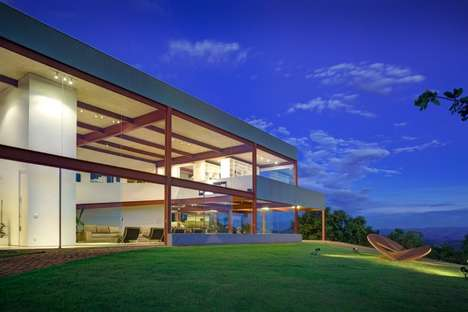 Spacious Introspective Homes - The Casa Das Gerais Offers Spectacular Views