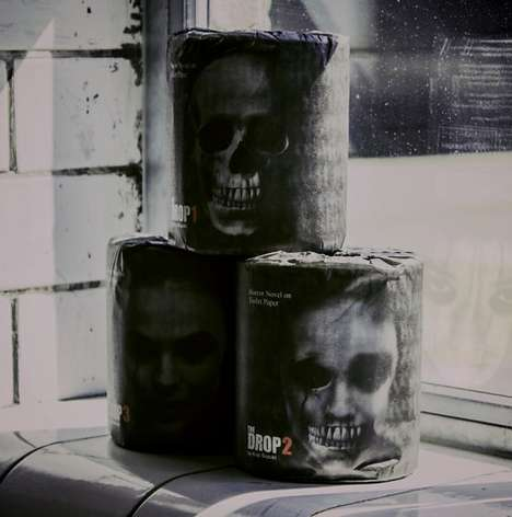 Terrifying Toilet Paper - This Toilet Paper Roll is Designed to Look Like Pages of a Horror Novel