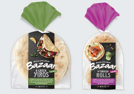 Worldly Bread Packaging - Bread Bags for Bazaar Breads of the World Show Off International Flavors