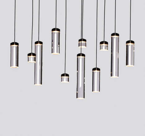 Test Tube Lamps - VESSEL is a Pendant Lamp and Sconce Collection by M3 and Todd Bracher