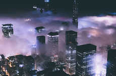 Cloudy Cityscape Captures - Michael Salisbury's Pictures of a Fog-Covered Urban Chicago are Majestic