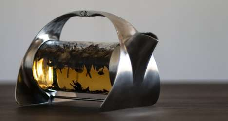 Contemporary Steel Teapots - The Sorapot Loose-Keaf Tea Set is Functional and Attractive