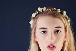 This Ivory Flower Crown from Etsy's Whichgoose Shop is Boldly Feminine
