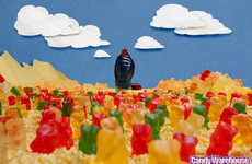 Giant Gummy Dune Dioramas - CandyWarehouse Recreates Famous Sci-Fi Scene Out of Candy