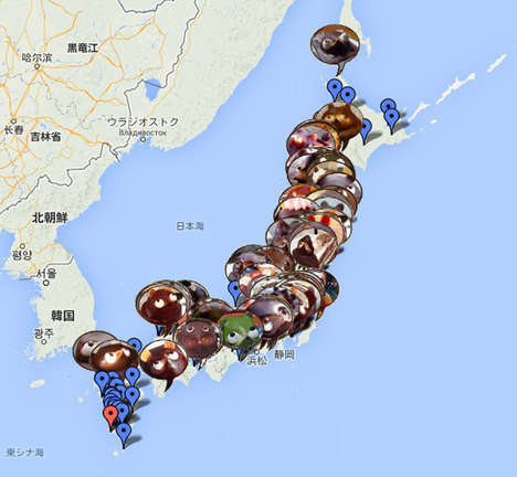 Endangered Dessert Maps - This Google Map Raises Awareness on Japan