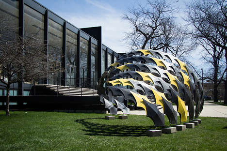 Carbon Fiber Pavilions - The FiberWave Pavilion is Made of Resilient Material