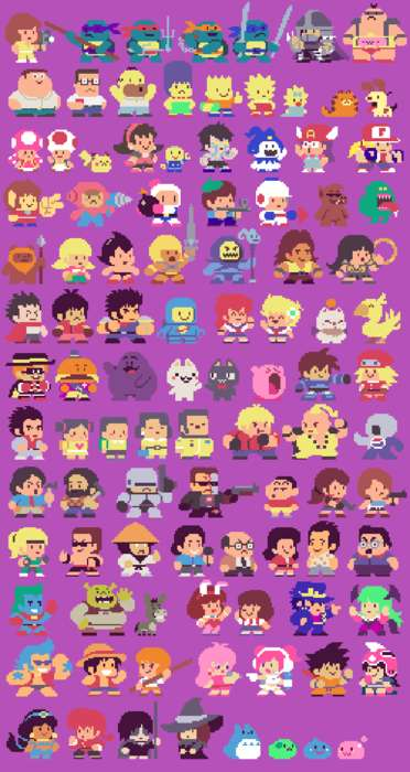 Pixelated Character Illustrations - Paul Robertson